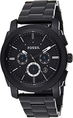 Fossil Montre chronographe à quartz pour homme en acier inoxydable.