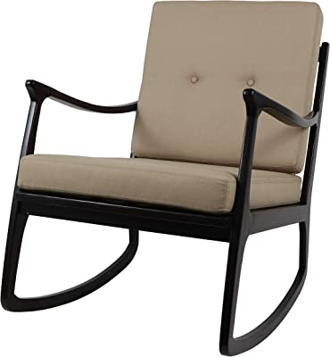 Decor Therapy Rocking Arm Chair, Size: 26.18w 33.07d 35.04h, Natural