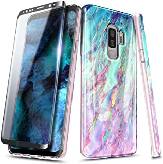NageBee Case for Samsung Galaxy S9+ Plus, Ultra Slim Thin Glossy Stylish Protective Bumper Cover Phone Case with Soft Screen Protector (3D Curved Full Coverage) -Nova