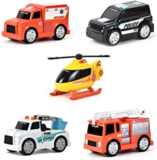 Sunny Days Entertainment Micro Mini City Vehicles – Toy Car and Truck Set for Kids | Birthday Party Gift for Boys – Maxx Action