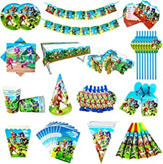 Party Tableware Sonic Birthday Party Decorations Kids Balloon Gift Bag Paper Cups Plates Knife Spoon Baby Shower Disposabl...