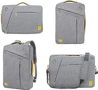 Computer Bag for 15.6 inches Laptop, Convertible Business Backpack Briefcase Messenger Bag, Multi-Functional Travel Rucksack Daypack School Bookbag Handbag for Women Men Students