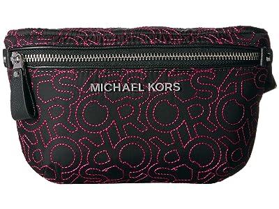 MICHAEL Michael Kors Kors Logo Jumble Belt Bag (Black/Neon Pink) Women