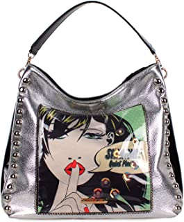 New Nicole Lee Metallic Hobo Handbag - Quiet Please (Sueña en silencio)