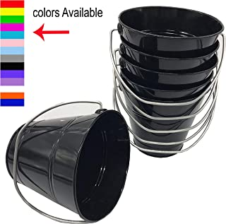 Italia 6-Pack Metal Bucket 1.5 Quart Color Black Size 5.6 X 6