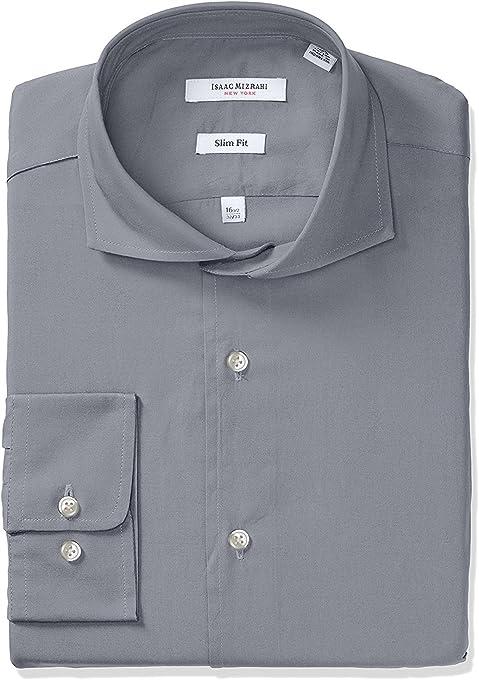 Isaac Mizrahi Men's Slim Fit Long Sleeve Solid Dress Shirt - Colors