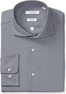 Men's Slim Fit Long Sleeve Solid Dress Shirt - Colors