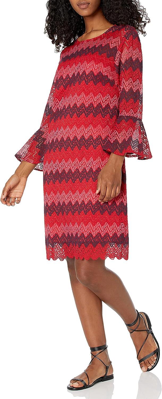 Trina Turk Women's Lovey Bell Sleeve Illusion Dress