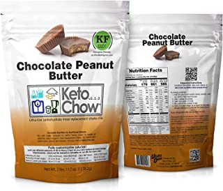 Keto Chow Keto Meal Replacement Shake: delicious, easy meals for keto diet, complete keto meal, on the run keto meal (Chocolate Peanut Butter, 21 Meals)