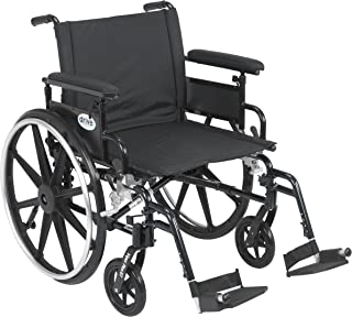 Drive Medical Viper Plus GT Wheelchair with Flip Back Removable Adjustable Full Arms, Swing Away Footrests, 22