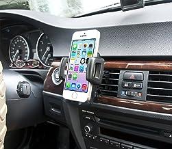 IBRA - Soporte Móvil Coche para Rejillas del Aire de Coche Sostenedor Universal 360 Grados para iPhone 7/6 / 6s / 6 Plus / 6s Plus / 7 Plus/iPad/Sony/Samsung etc (Negro)