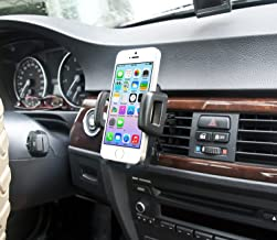 IBRA Dedicated Air Vent Car Holder Mount Black Vehicle Louvers Phone Cradle Mount for Apple iPhone 6/6 Plus / 5/4 / 4s / 3G / 3 and iPod Series 2015 Model