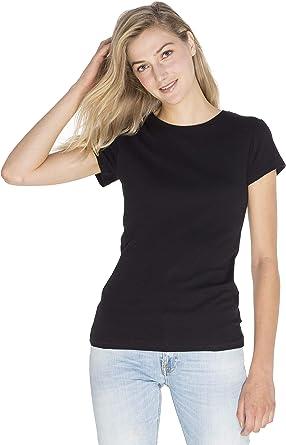 SOIZZI Fashion Women 100% GOTS(R) Organic Cotton T Shirt, Slim Fit Basic Crew Neck Short Sleeve Tee
