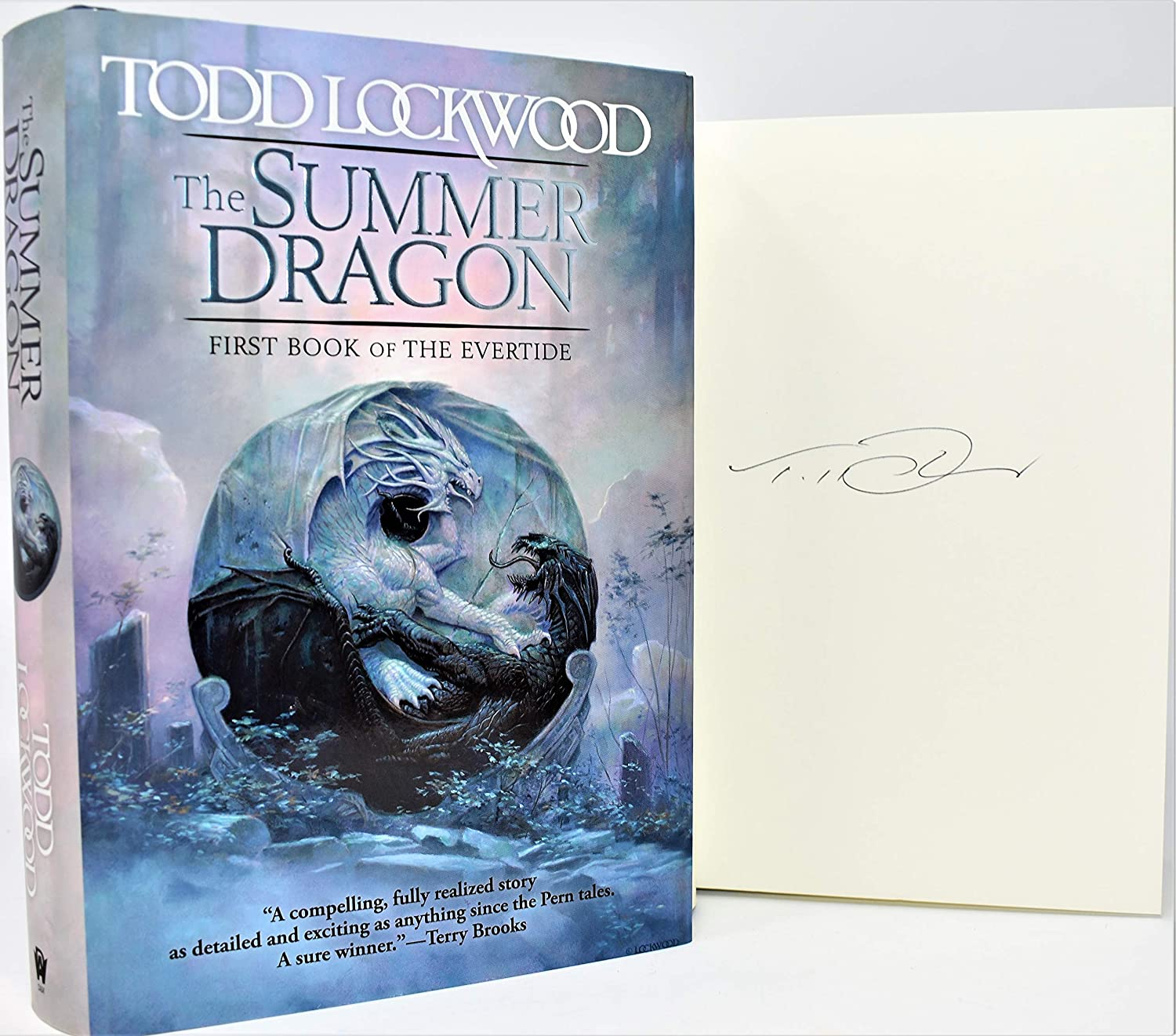 The Summer Dragon AUTOGRAPHED by BOOK Lockwood Our shop OFFers Challenge the lowest price of Japan the best service SIGNED Todd