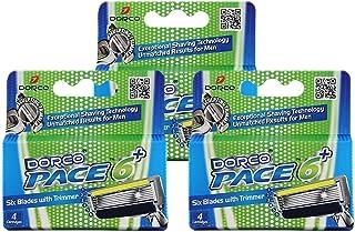 Dorco Pace 6 – refills för rakblad för män (3 paket)