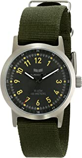 Men's ABZ3C01 Alpha Bravo Zulu Stainless Steel Watch with Canvas Band
