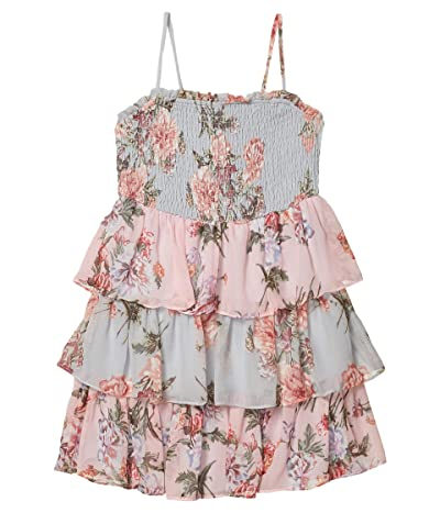 Bardot Junior Minka Tier Dress (Little Kids/Big Kids) (Blue Floral) Girl