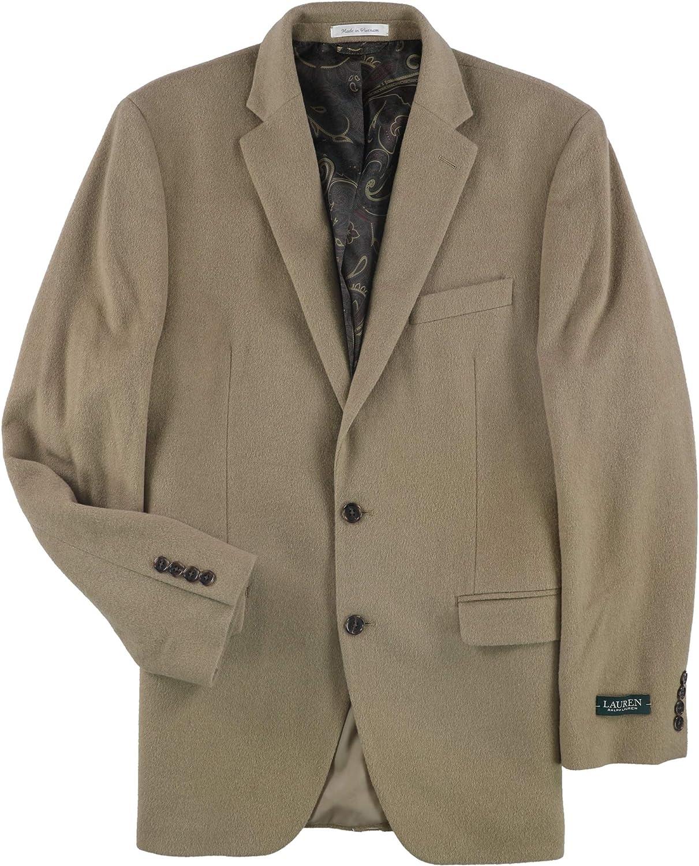 Ralph Lauren Mens Landon Two Button Blazer Jacket, Brown, 40 Long