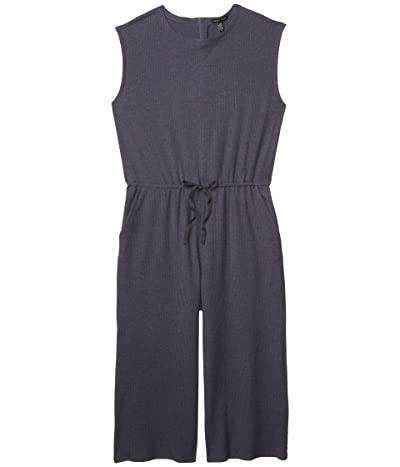 Eileen Fisher Jewel Neck Wide Leg Cropped Jumpsuit (Nocturn) Women
