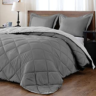 downluxe Lightweight Solid Comforter Set (King) with 2 Pillow Shams – 3-Piece Set..