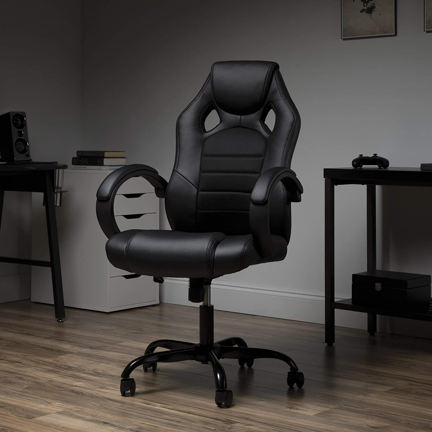 OFM ESS Collection High-Back Sale price Gaming Chair Arms Padded Bla Loop 70% OFF Outlet