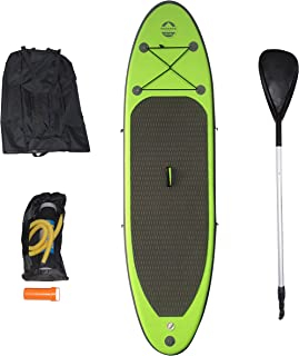 Outdoor Tuff SUP OTF-8254SUP Inflatable Backpack Paddle Board with Adjustable Paddle, 150-Pound Capacity