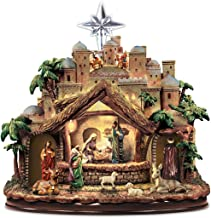 Thomas Kinkade Following the Star Nativity Sculpture Lights As Figures Move and the Musical Nativity Plays 4 Beloved Carols! - By Hawthorne Village