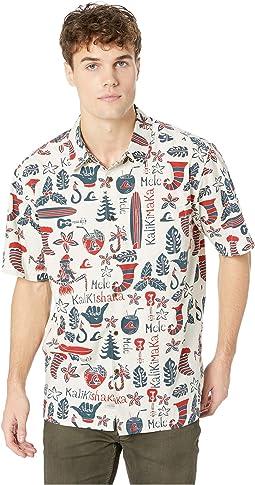 Mele Kalilimaka Short Sleeve Christmas Shirt