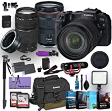 Canon EOS RP Mirrorless Digital Camera with 2 Canon Lens (RF 24-105mm f/4L is USM and EF 75-300mm f/4-5.6 III) Bundled w/Canon Mount Adapter EF-EOS R + Premium Accessory kit