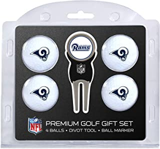 Team Golf NFL Regulation Size Golf Balls (4 Count) & Divot Tool with Removable Double-Sided Magnetic Marker