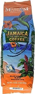 Jamaican Blue Mountain Coffee Blend, Whole Bean - Medium Roast, Fresh Strong Arabica Coffee - Rich And Smooth Flavor - Magnum Exotics, 1 Lb Bag