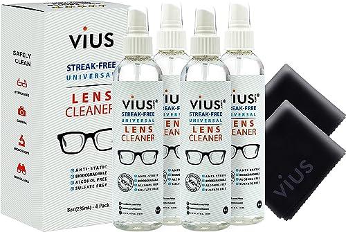 vius Spray nettoyant pour lentilles, lunettes, appareils photo et autres lentilles: nettoie en douceur les bactéries,...