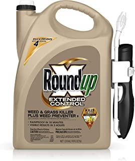 Roundup 5235010 Ready-To-Use Extended Control Weed & Grass Killer Plus Weed Preventer II with Comfort Wand, 1.33 gal