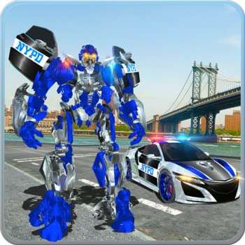 Police Car Robot War  Police Games - Do Police Chase in Cop Car as NY City Police Officer of Real Robot Games Best Muscle Car Robot Transformation in Robot Fighting Games & NYPD Police Car Games Free Robot Battle Action Games for Kids
