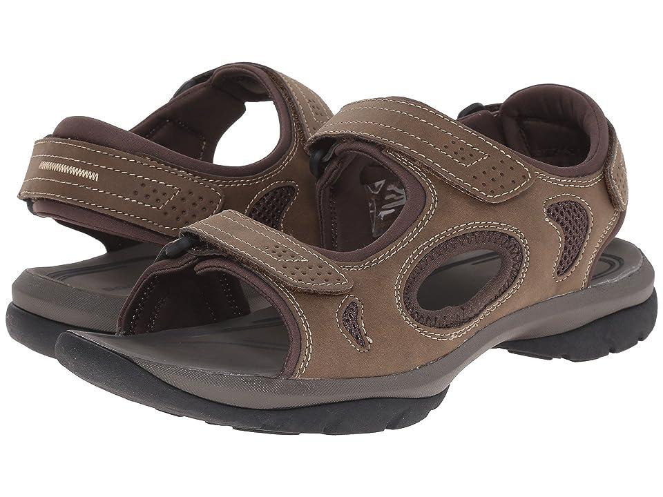 Dockers Devon 3 Strap Sandal (Brown/Brown/Khaki Distressed/Mesh) Men