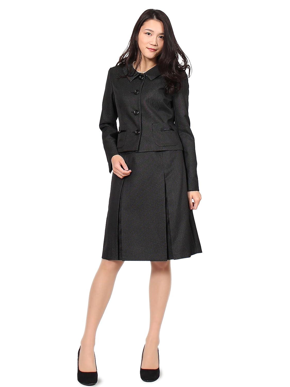 [モードアラカルト] スーツ レディース スカートスーツ ツイード 黒 白