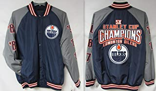 G-III Sports Edmonton Oilers Mens Size Large 5-Time Stanley Cup Champions Winter Jacket Coat B1 339 L