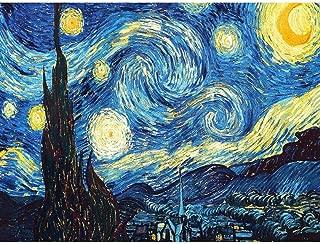 Diamante Pintura Decoración Del Hogar DIY 5D Diamante Bordado Van Gogh Noche Estrellada Kits de Punto de Cruz Pintura Al Óleo Abstracta Resina Hobby Craft, 30X40cm