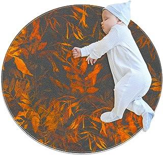 Abstrakt akvarell, barn rund matta polyester överkast matta mjuk pedagogisk tvättbar matta barnkammare tipi tält lekmatta