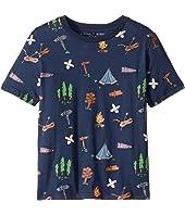 Stella McCartney Kids - Arrow Short Sleeve Campsite Printed Tee (Toddler/Little Kids/Big Kids)