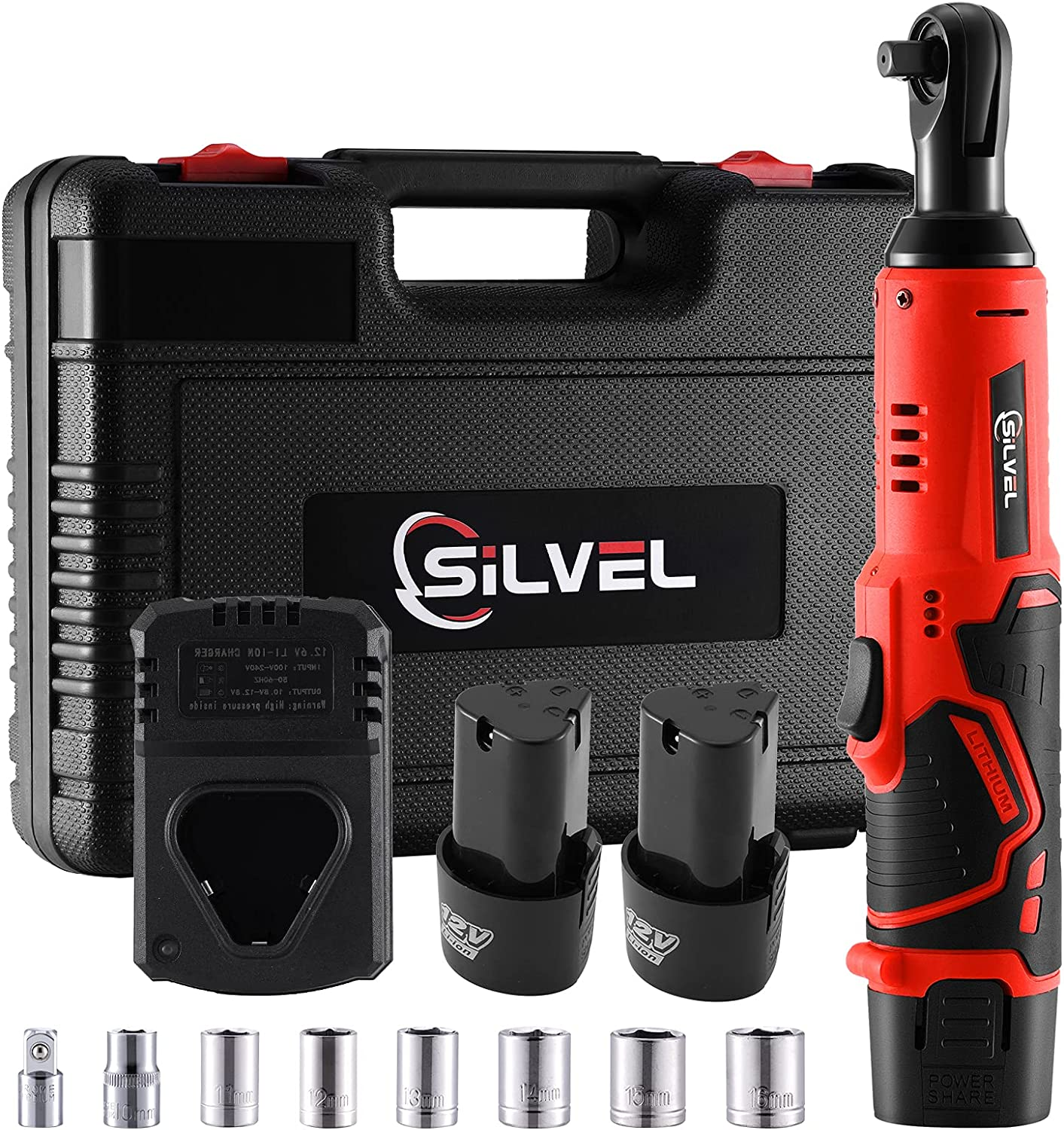 SILVEL Cordless Electric Ratchet Wrench Luxury goods 12V 8 Inch Recommended 3 Ratch Power