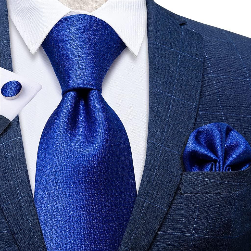 UXZDX Classic 8cm 3 Pack Men's Tie Set Silk Jacquard Woven Necktie Formal Wedding Men Accessories Cravat Gift Box (Color : Jacquard, Size : One Size)