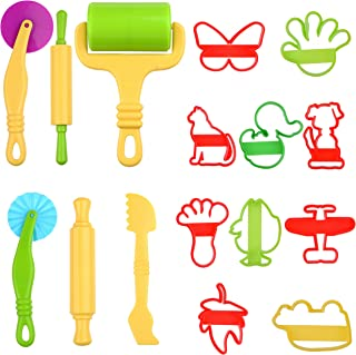 Kare & KindSet of 16pcs Smart Dough Tools Kit with Models and Molds (Animals, Machines, Foot)