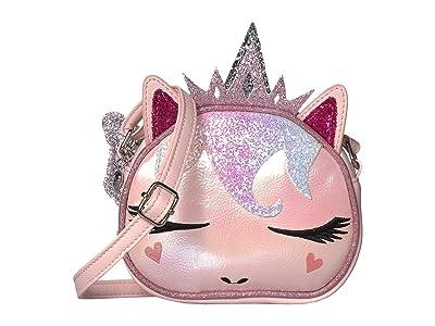 OMG! Accessories Sugar Glitter Metallic Unicorn Fairy Crossbody (Pink) Handbags