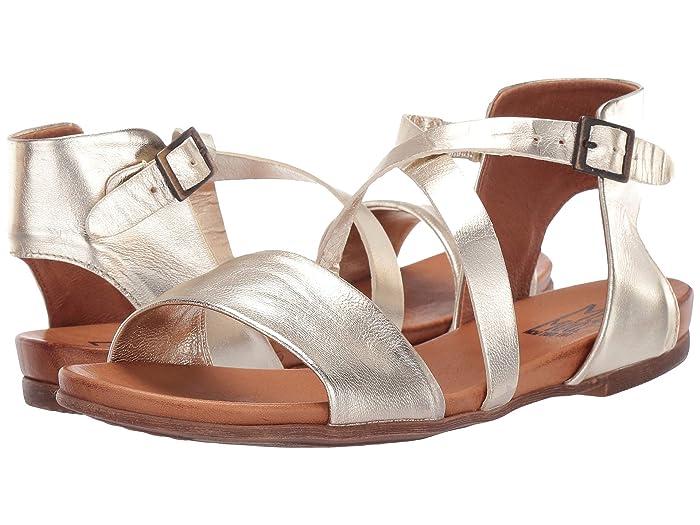70s Shoes, Platforms, Boots, Heels Miz Mooz Aster Gold Womens Sandals $89.95 AT vintagedancer.com