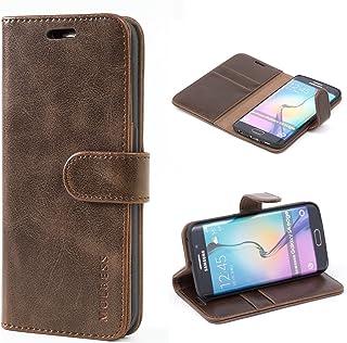Mulbess Cover per Samsung Galaxy S6 Edge, Custodia Pelle con Magnetica per Samsung Galaxy S6 Edge [Vinatge Case], caffè Ma...