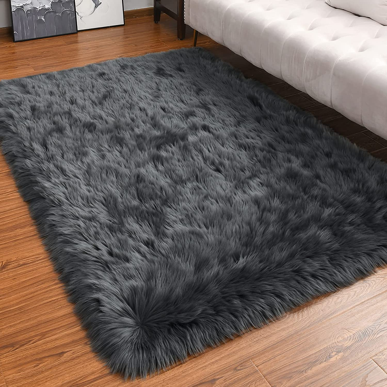 LOCHAS Ultra Soft Fluffy Rugs Faux Be super welcome for Sheepskin Rug Free shipping anywhere in the nation Area Fur