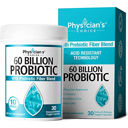 Probiotics 60 Billion CFU - Dr Approved Probiotics for Women, Probiotics for Men and Adults, Natural, Shelf Stable Probiotic Supplement with Organic Prebiotic, Acidophilus Probiotic