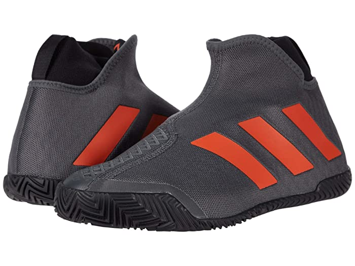 adidas  Stycon M (Grey Six/True Orange/Core BLack) Mens Tennis Shoes