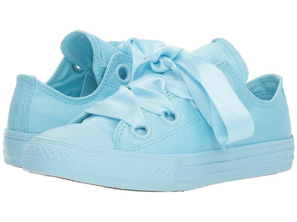Converse Kids Chuck Taylor(r) All Star(r) Star Big Eyelets Ox (Little Kid/Big Kid) (Cyan Tint/Cyan Tint/Cyan Tint) Girls Shoes